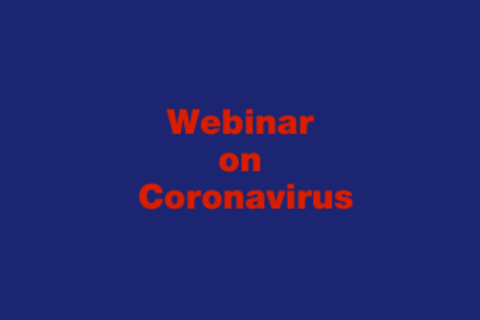 "Webinar: ""Coronavirus: what is it and what impact does it have on our health?"""